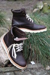 Men's ankle boot in black-brown, size 42